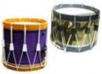 Tambours 1/2 a cordage cercles bois