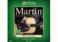 JEU 12 CORDES GUITARE ACOUSTIQUE MARTIN 80/20 BRONZE XL M180