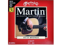 CORDE GUITARE ACOUSTIQUE MARTIN 80/20 BRONZE 25