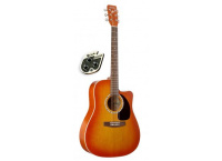GUITARE ELECTROACOUSTIQUE A PAN COUPE ART & LUTHERIE 25952Q