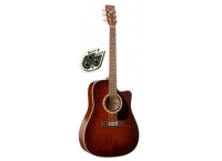 GUITARE ELECTROACOUSTIQUE A PAN COUPE ART & LUTHERIE 25955Q