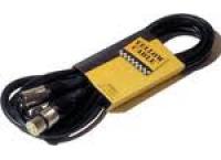 CABLE HAUT PARLEUR XLR M / XLR F 10 M YELLOW CABLE PROFILE HP10XX