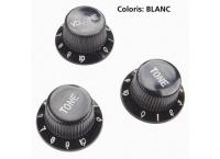 BOUTON REGLAGE GUITARE ELECTRIQUE YELLOW PART'S EZ1215W BLANC