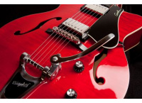 GUITARE JAZZ GODIN 5TH AVENUE UPTOWN CW TRANS RED FLAME