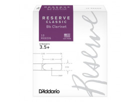 BOITE 10 ANCHES CLARINETTE SIB RICO RESERVE CLASSIC N°3 1/2+