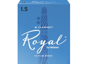 BOITE 10 ANCHES CLARINETTE SIB RICO ROYAL N°1 1/2
