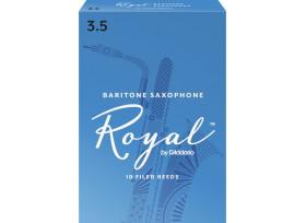 BOITE 10 ANCHES SAXOPHONE BARYTON RICO ROYAL N°3 1/2