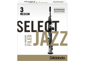 BOITE 10 ANCHES SAXOPHONE SOPRANO RICO SELECT JAZZ FILED N°3 M
