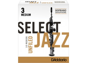 BOITE 10 ANCHES SAXOPHONE SOPRANO RICO SELECT JAZZ UNFILED N°3 M