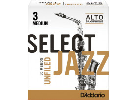 BOITE 10 ANCHES SAXOPHONE ALTO RICO SELECT JAZZ UNFILED N°3 M