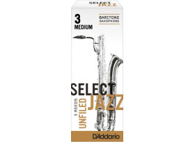 BOITE 5 ANCHES SAXOPHONE BARYTON RICO SELECT JAZZ UNFILED N°3 M