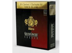BOITE 10 ANCHES CLARINETTE SIB RICO GRAND CONCERT THICK BLANK N°2 1/2