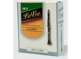 BOITE 10 ANCHES CLARINETTE SIB RICO LA VOZ MEDIUM HARD