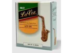 BOITE 10 ANCHES SAXOPHONE ALTO RICO LA VOZ MEDIUM HARD