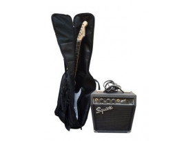 PACK GUITARE ELECTRIQUE FENDER SQUIER SP-10 BLACK