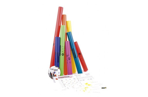 PACK 8 BOOMWHACKERS DIATONIQUE DO4 A DO5 + NOTICE + CD