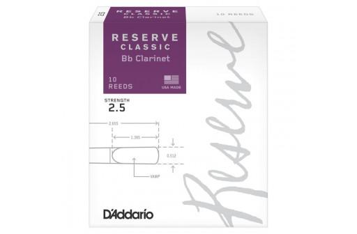 BOITE 10 ANCHES CLARINETTE SIB D'ADDARIO RESERVE CLASSIC N°2 1/2