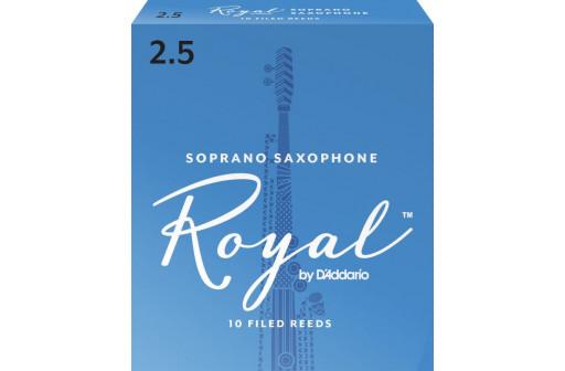 BOITE 10 ANCHES SAXOPHONE SOPRANO D'ADDARIO ROYAL N°2 1/2