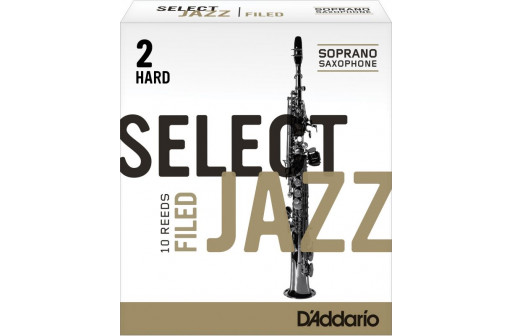 BOITE 10 ANCHES SAXOPHONE SOPRANO D'ADDARIO SELECT JAZZ FILED N°2 H