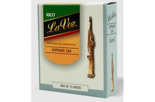 BOITE 10 ANCHES SAXOPHONE SOPRANO D'ADDARIO LA VOZ MEDIUM HARD