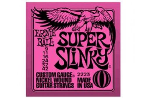 JEU 6 CORDES GUITARE ELECTRIQUE ERNIE BALL SUPER SLINKY 9/42