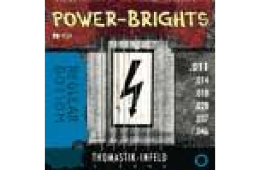 JEU 6 CORDES GUITARE ELECTRIQUE THOMASTIK INFELD POWER BRIGHTS RP111
