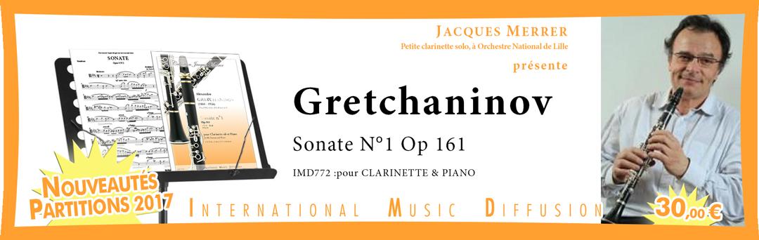 Gretchaninov - Sonate 1 - clarinette et piano