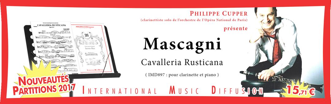 CAVALLERIA RUSTICANA FANTASIA PER CLARINETTO  MASCAGNI P.
