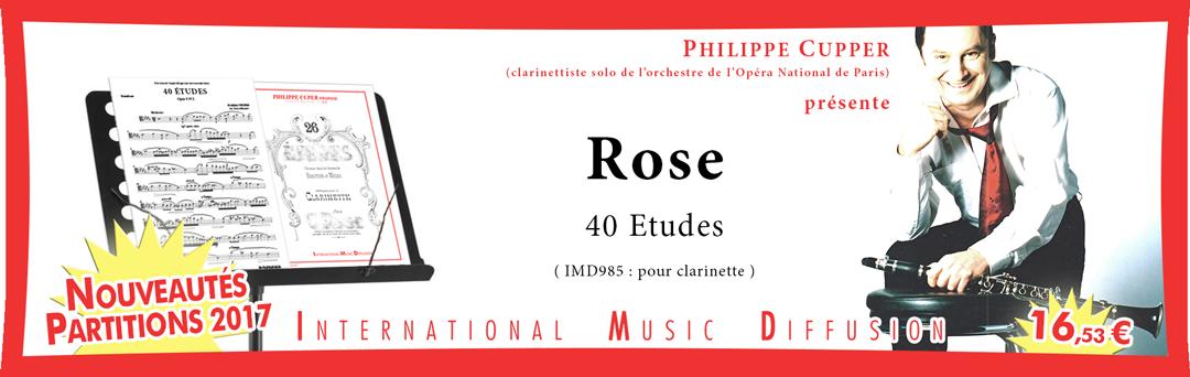 40 GRANDES ETUDES  ROSE C. - pour clarinette